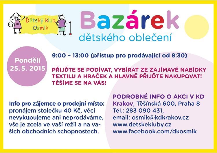 MČ Praha 8  Akce městské části - Bazárek DK Osmík 9c46ba7d16