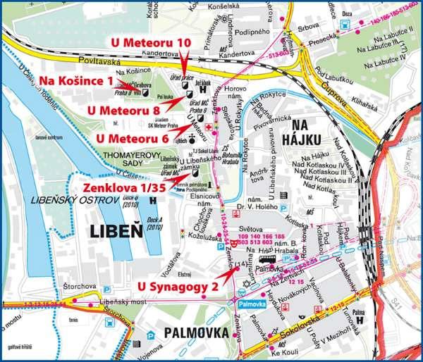 Mc Praha 8 Contact Orientation Plan Of The Facilities Of The