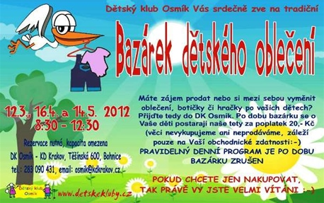 MČ Praha 8  Akce městské části - Bazárek dětského oblečení v Osmíku 59ddcdbc3d