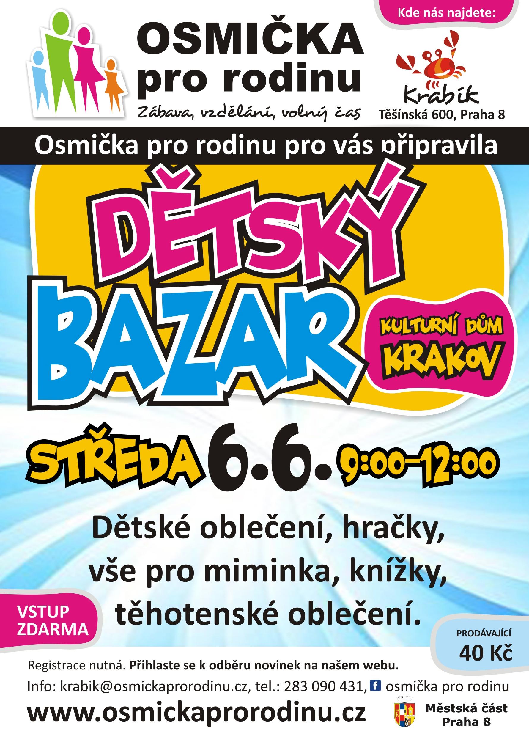 c11d7af5e360 MČ Praha 8  Kalendář akcí - Dětský bazar
