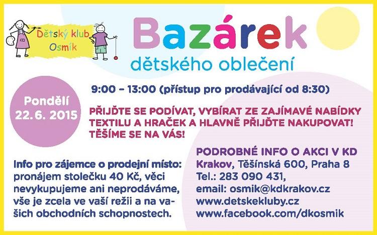 MČ Praha 8  Kalendář akcí - Bazárek DK Osmík 5dbefcbaad